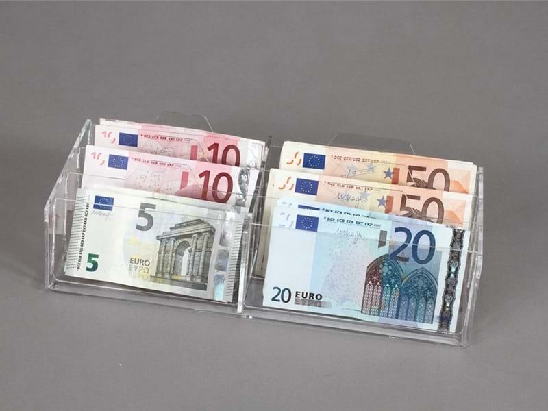 Espositori per banconote e monete