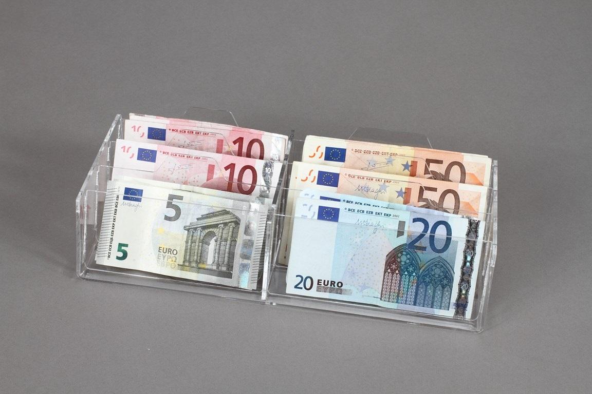Espositore da cassetto porta banconote a 6 scomparti rbt espositori - Porta posate da cassetto ...