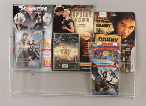 ESPOSITORE DA PARETE A DUE TASCHE PER DVD E VARIE