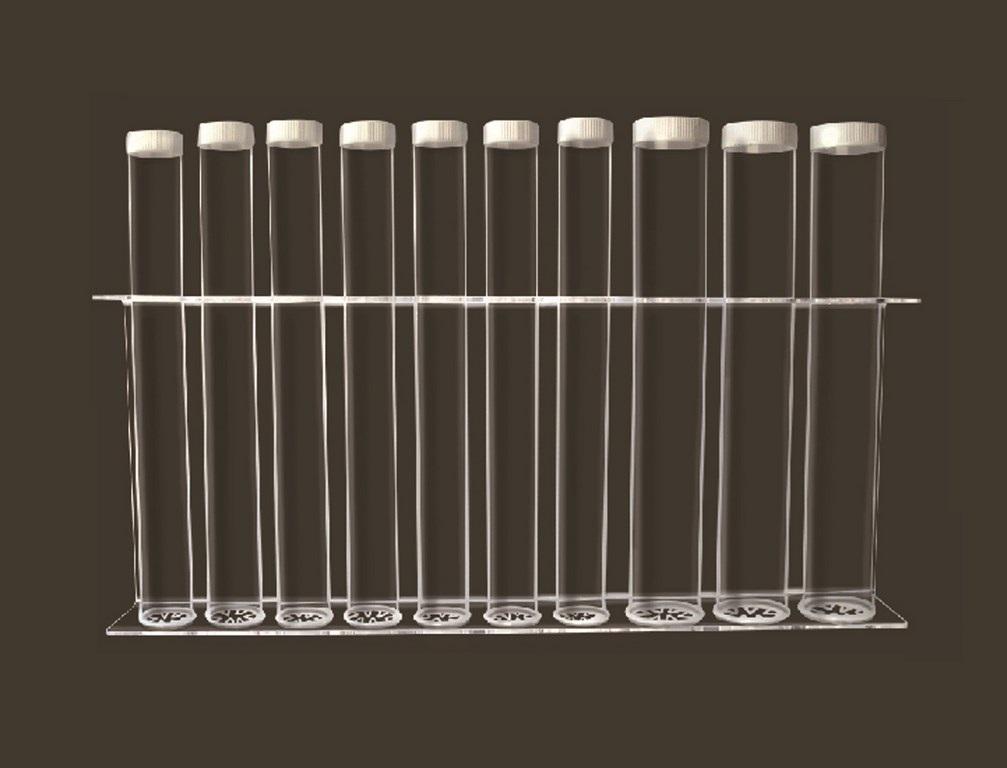 PORTABICCHIERI DA MURO A 10 TUBI IN PLEXIGLASS