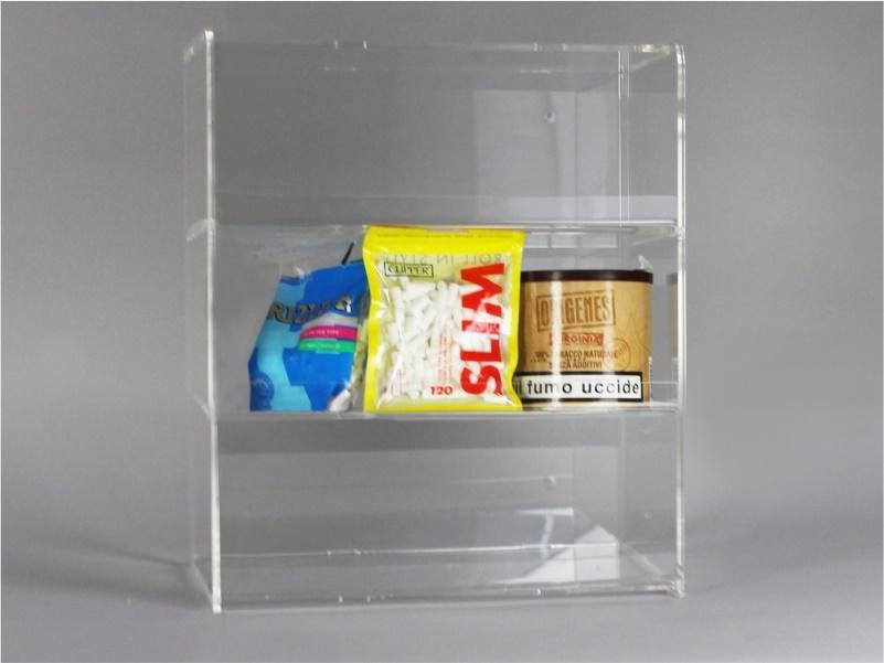 Espositore per caramelle confezionate, accendini da banco e parete a 3 piani senza riparo frontale