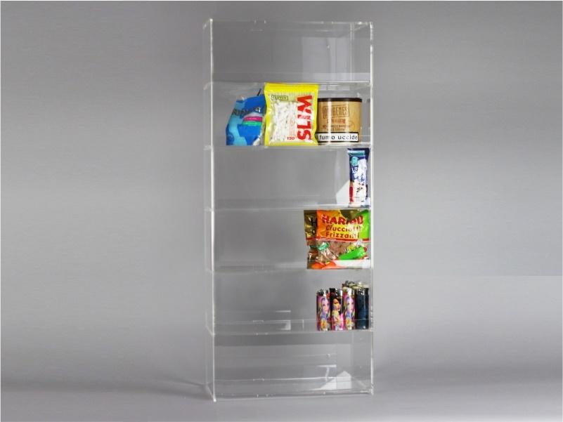 Espositore per caramelle confezionate, accendini da banco e parete a 6 piani senza riparo frontale