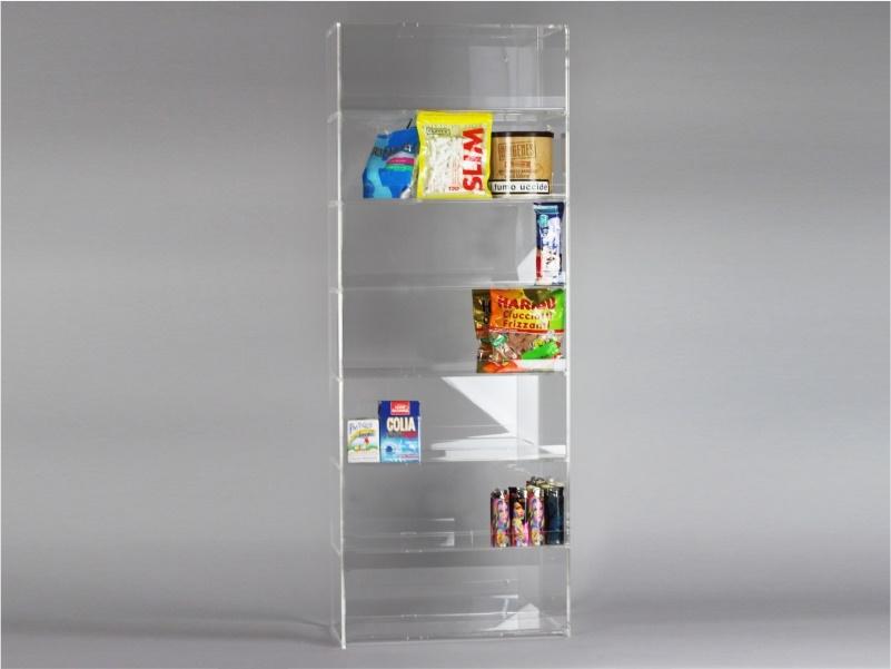 Espositore per caramelle confezionate, accendini e vari da banco e parete a 7 piani