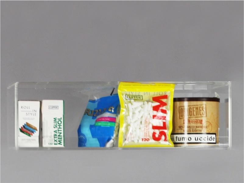 Espositore per caramelle confezionate, accendini e vari da banco e parete 1 piano
