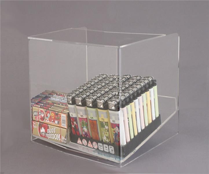 Espositore per caramelle confezionate, accendini e vari da banco a 1 piano con riparo frontale