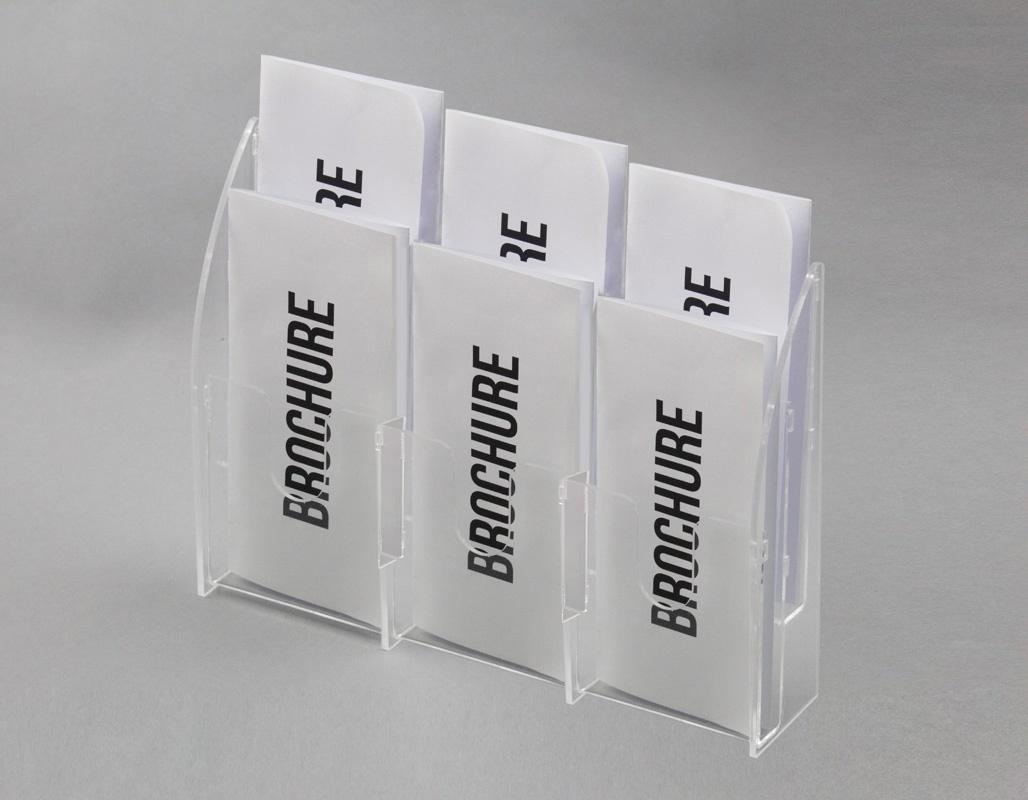 ESPOSITORE DA BANCO A 6 TASCHE PORTA BROCHURE (3 O. x 2 V.)