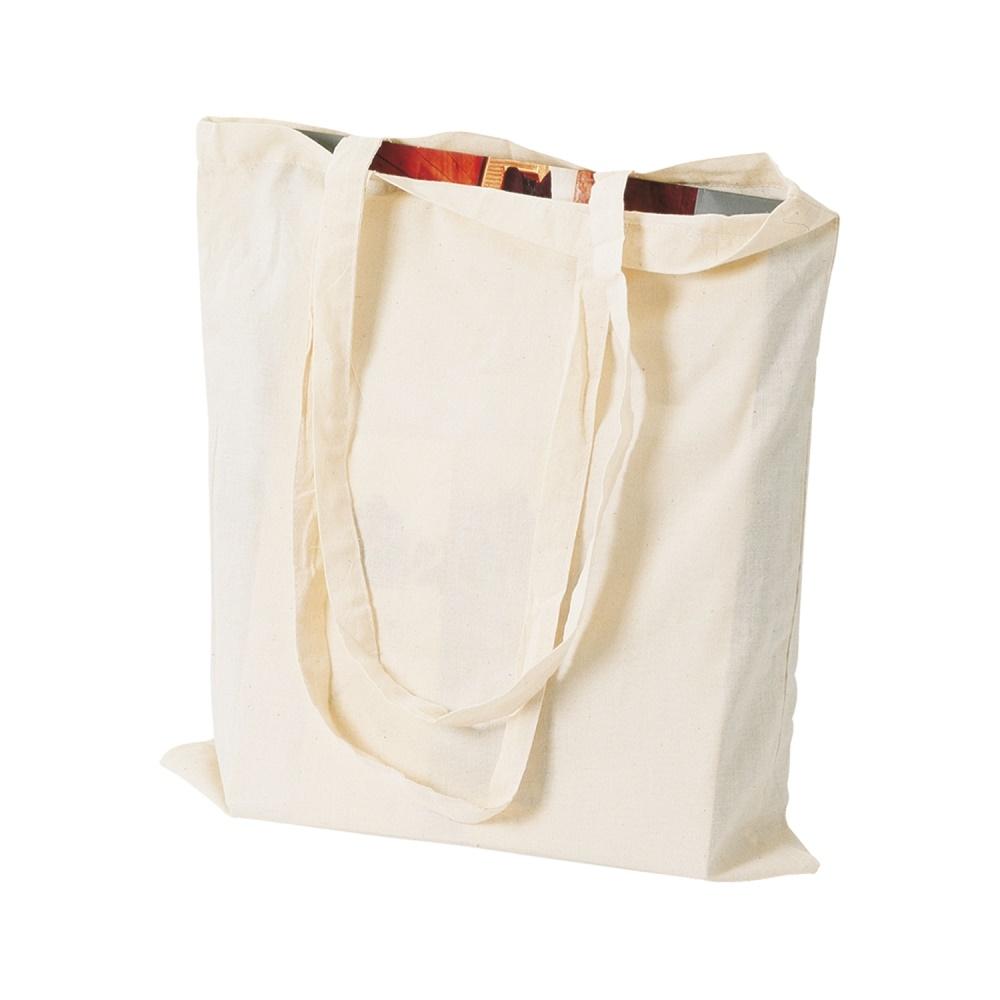 borsa cotone manico lungo personalizzata - minimo 100 pz