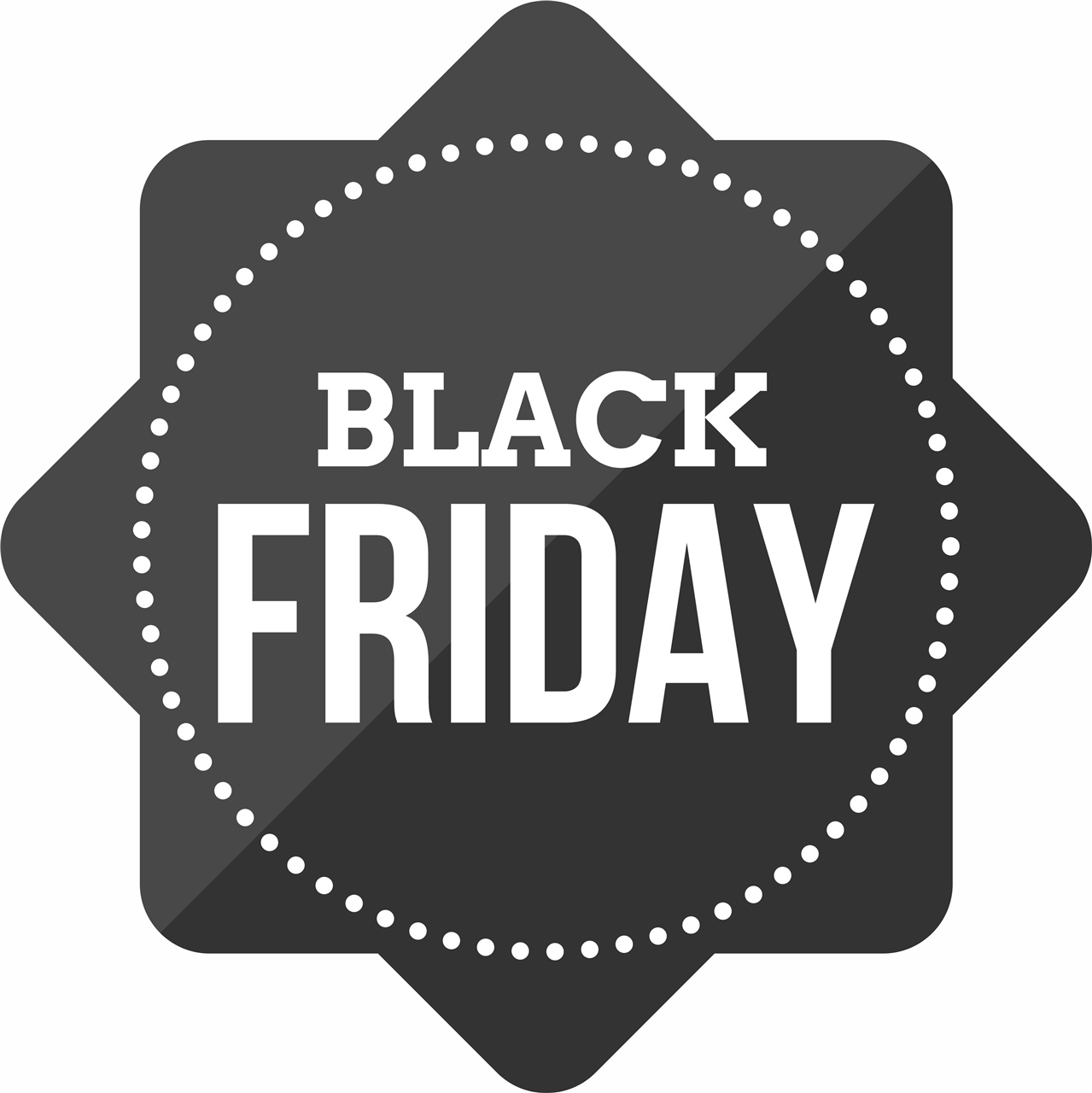 Adesivo removibile Black friday nero