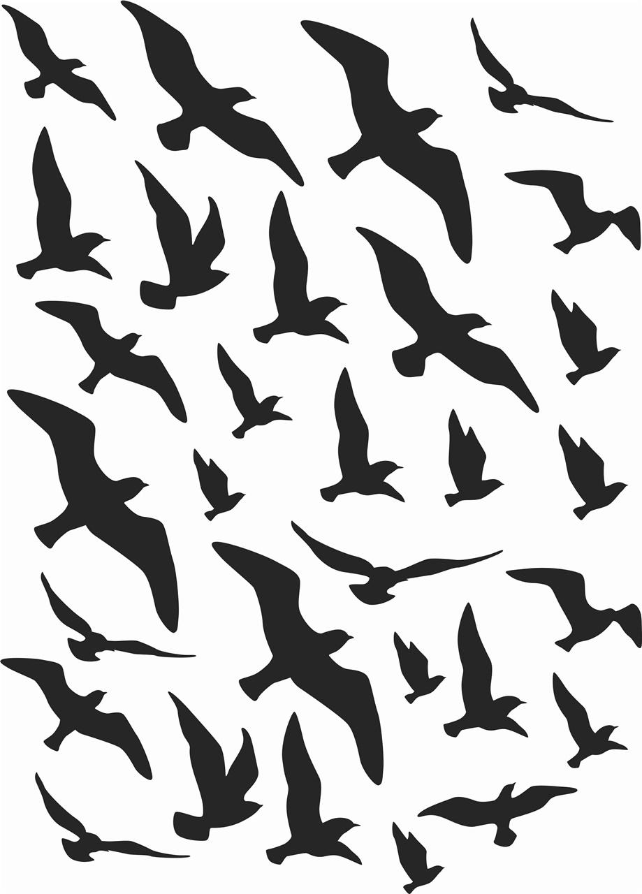 Adesivi uccelli anticollisione