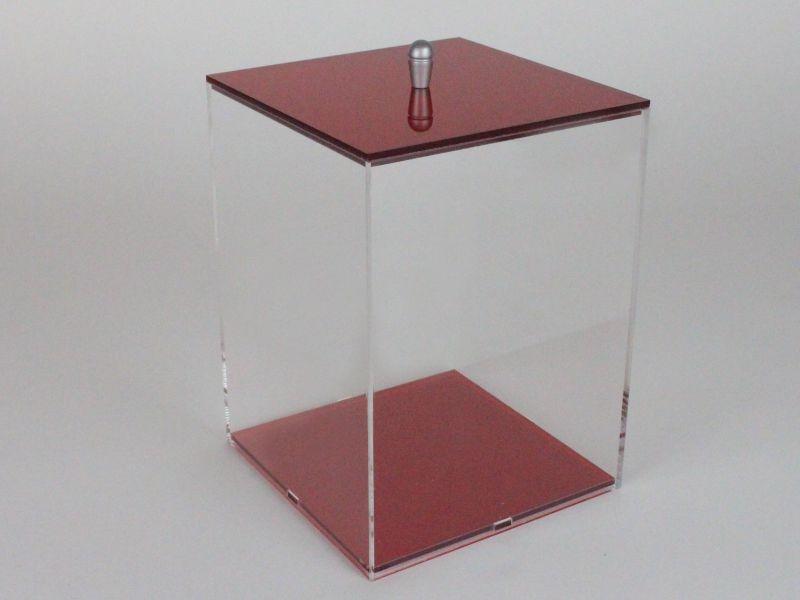 Contenitore plexiglass con coperchio 10x10