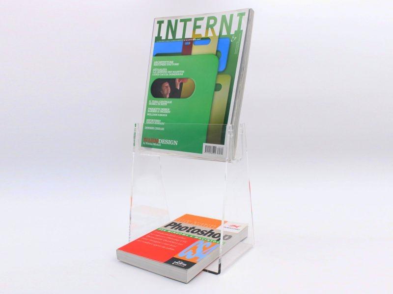 espositore da banco porta libri con mensola-22x26 cm