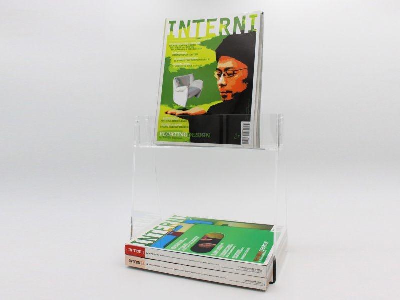 espositore da banco porta libri con mensola-L30xH30 cm