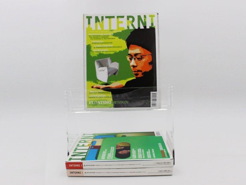 espositore da banco porta libri con mensola-L30xh22cm