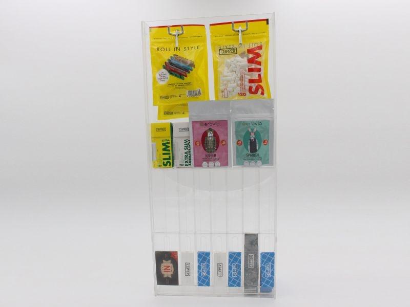 Espositore da banco a 7 corsie per cartine lunghe, corte e doppie