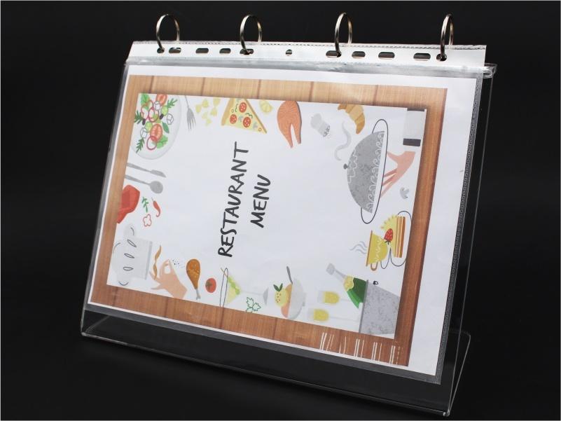 porta menu, leggio da banco per foglio A4 con anelli