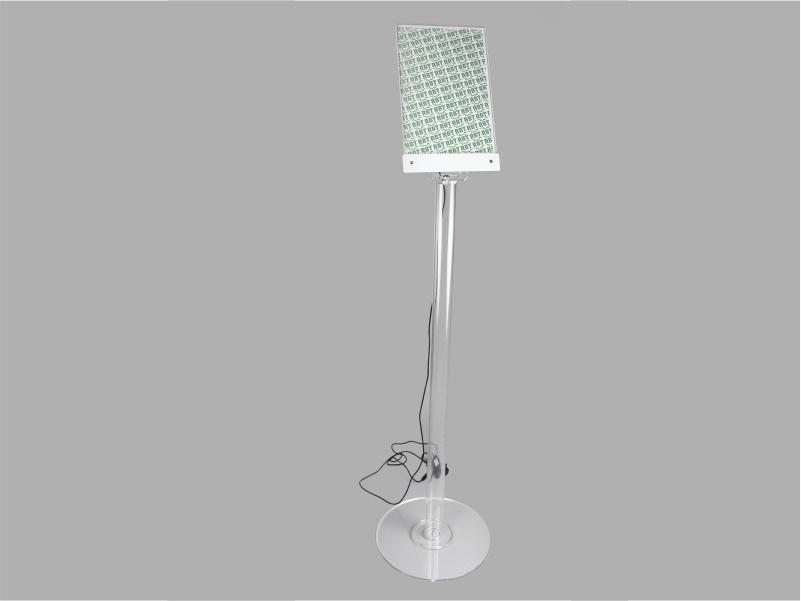 espositore leggio da terra con tasca per foglio a4 verticale LED