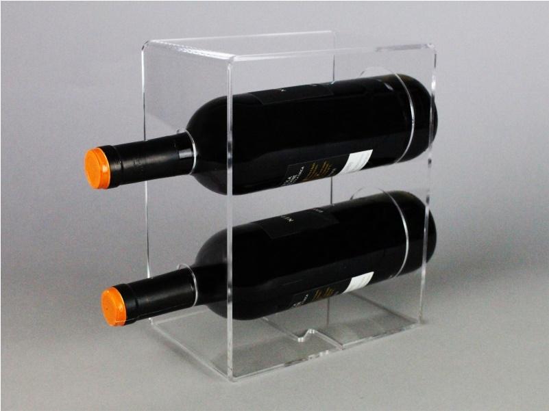 espositore da banco per due bottiglie di vino