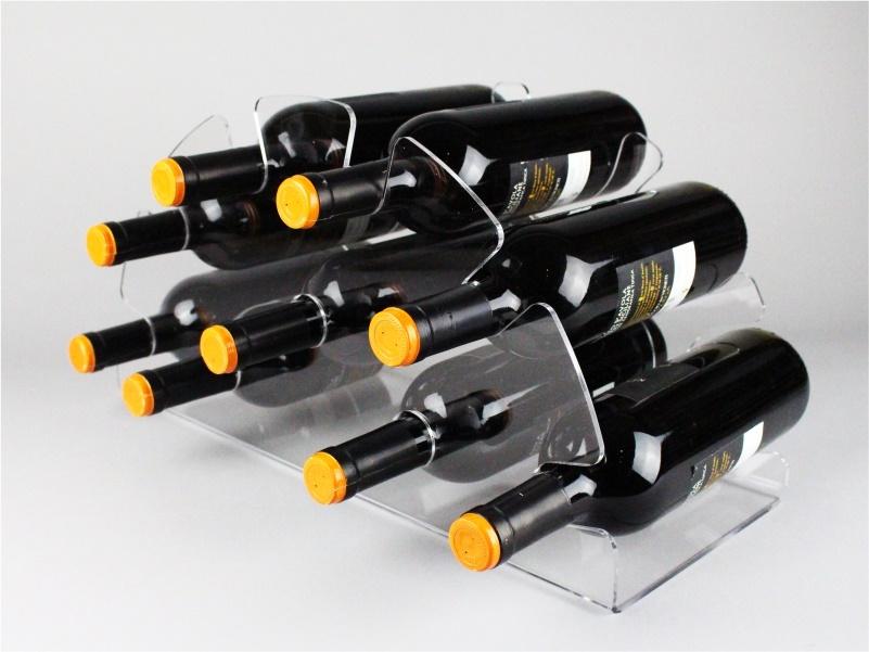 espositore porta 9 bottiglie di vino