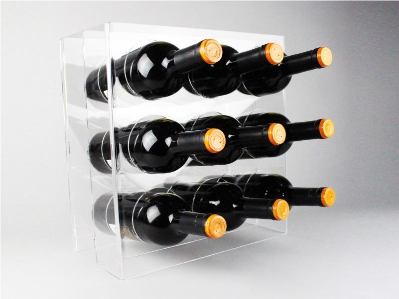 Espositore da banco porta 9 bottiglie di vino