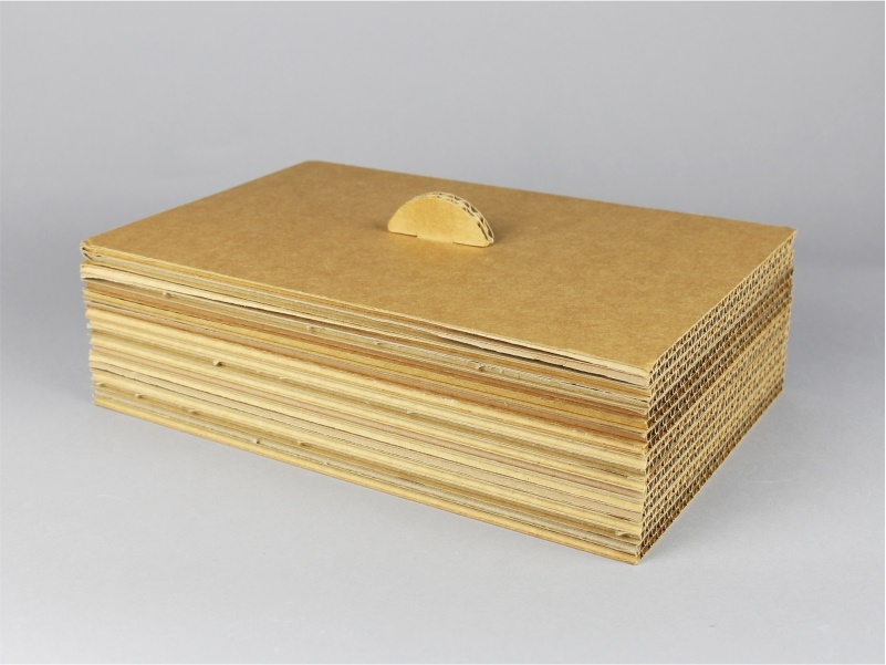 scatola con coperchio in cartone