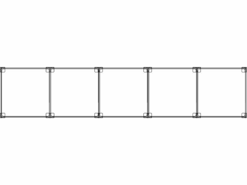 Cubi modulari componibili in plexiglass 5 orizzontali o verticali