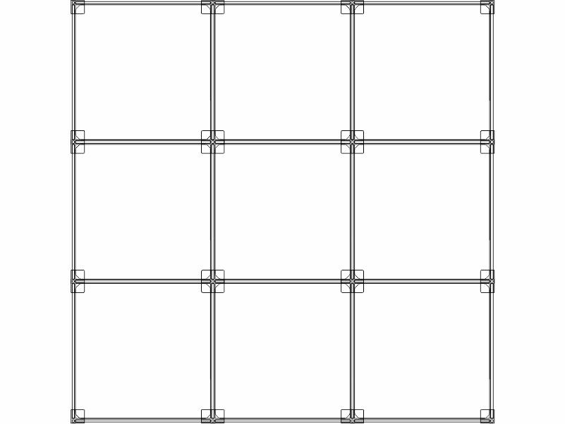 Cubi modulari componibili in plexiglass 9 cubi - 3ox3v
