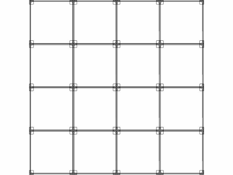 Cubi modulari componibili in plexiglass 16 cubi 4ox4v