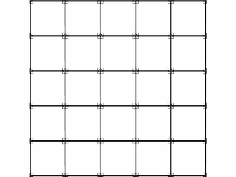 Cubi modulari componibili in plexiglass 25 cubi
