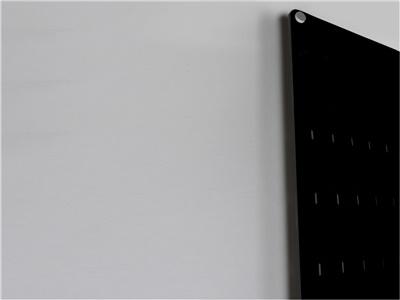 espositore da parete porta blister plexiglass nero