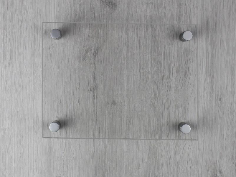 targa plexiglass trasparente rettangolare