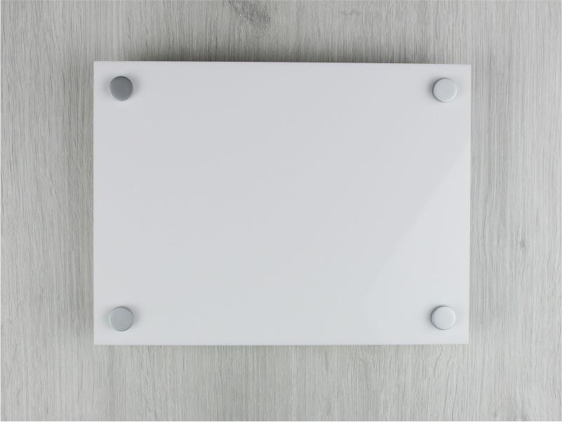 targa plexiglass bianco rettangolare