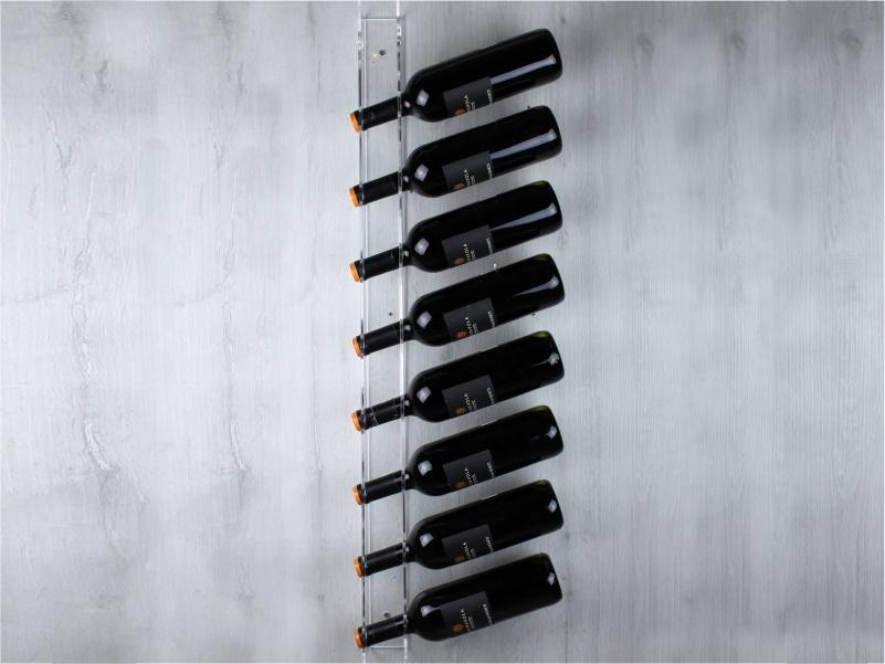 espositore da parete per 9 bottiglie