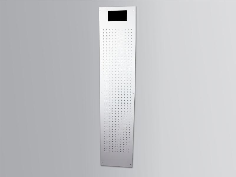 espositore da parete per blister con schermo digitale