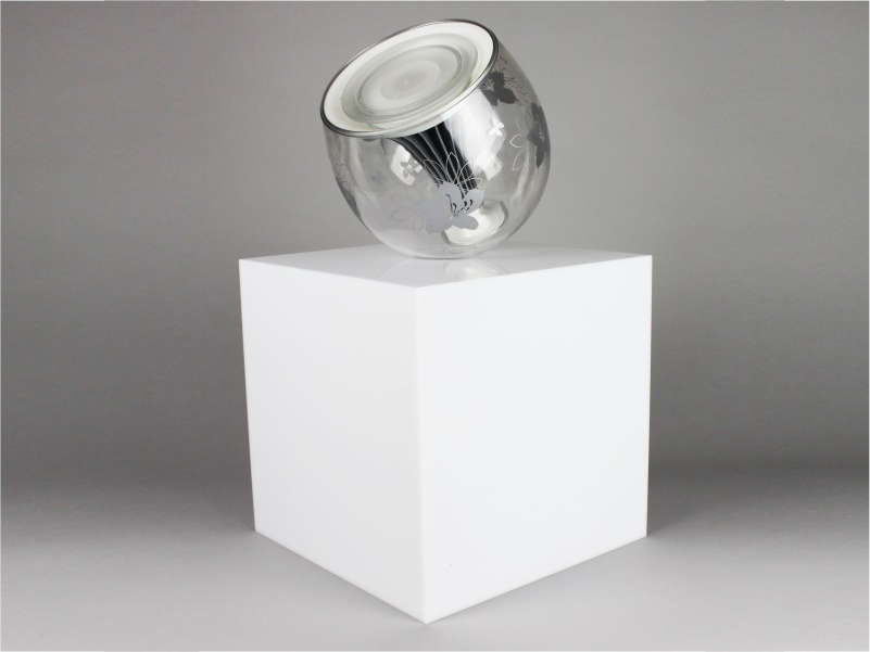 Cubo espositivo plexiglass opalino