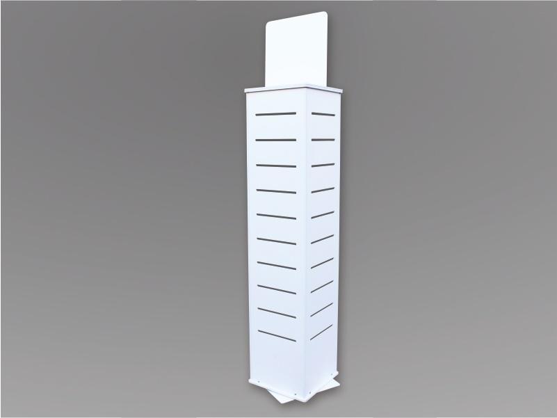 Espositore dogato a torre con base rotante