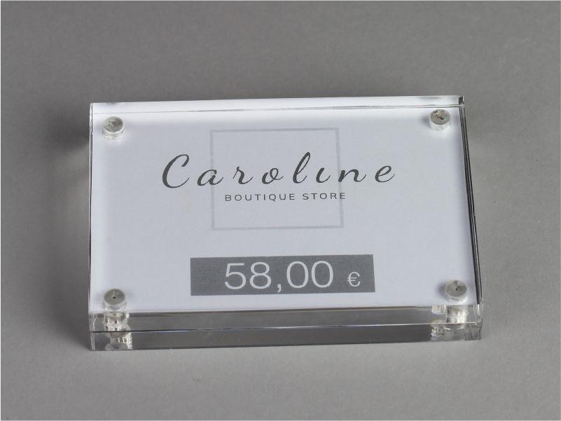 Porta prezzi con calamita f.to 10,5x7,5 cm