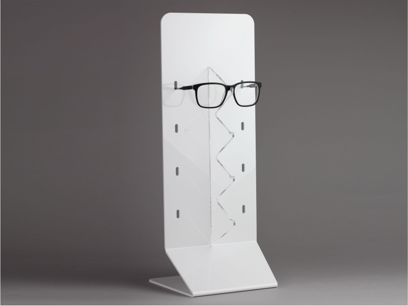 Espositore da banco per occhiali 4 posti in plexiglass bianco