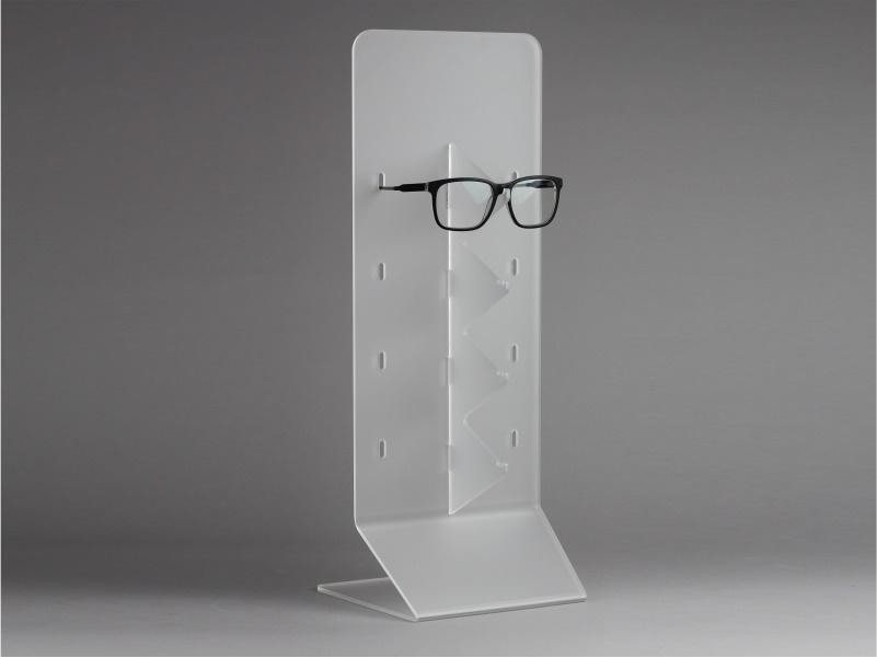 Espositore da banco per occhiali 4 posti in plexiglass satinato