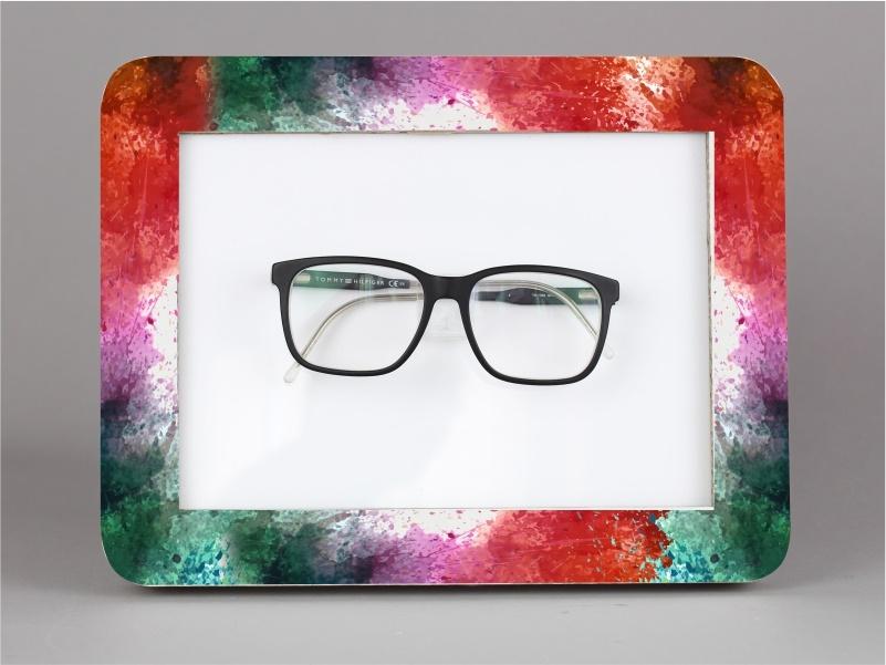 espositore per occhiale da banco e parete in cartone tripla onda bianco