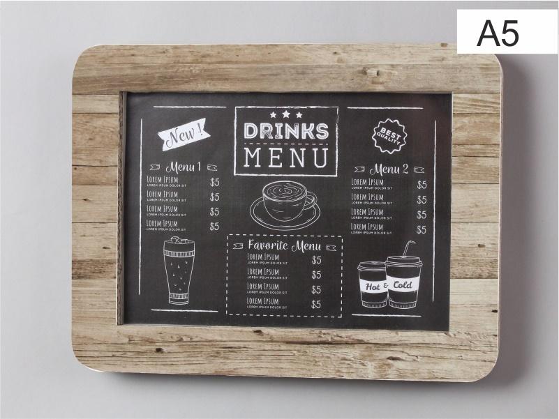 espositore porta menu, foto, comunicazioni in cartone color bianco x formato a5