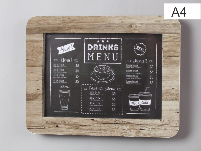espositore porta menu, foto, comunicazioni in cartone bianco x formato a4