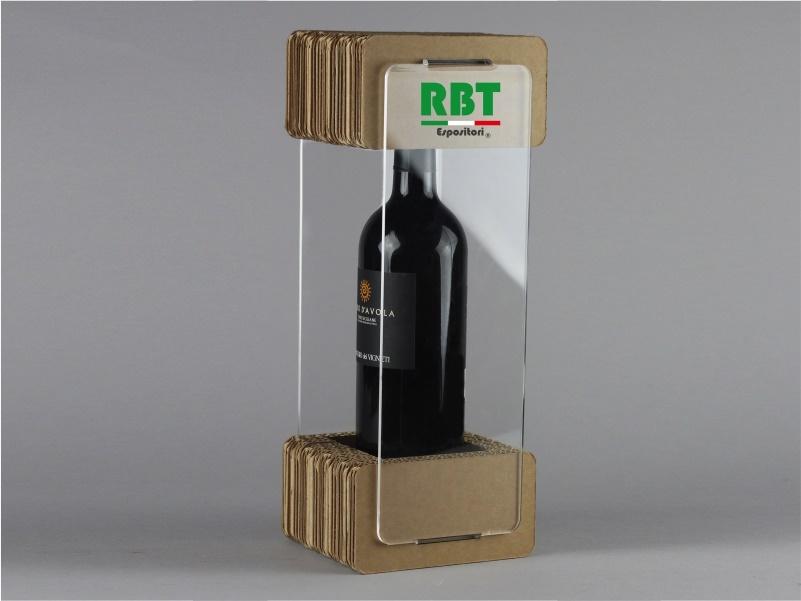 Confezione per bottiglie modello D in cartone