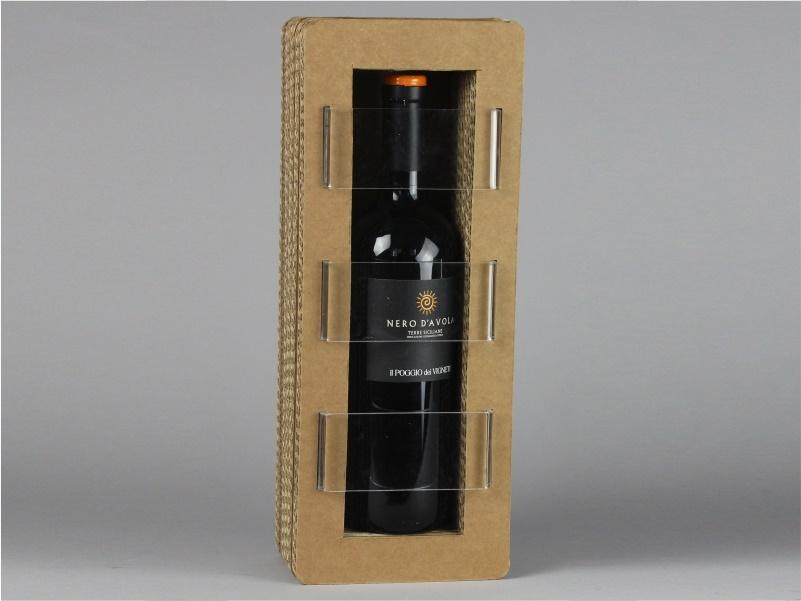 Confezione per bottiglie modello E in cartone
