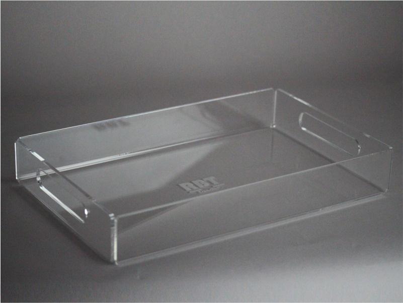 vassoio in plexiglass trasparente modello A