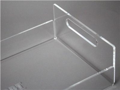 vassoio in plexiglass trasparente modello B
