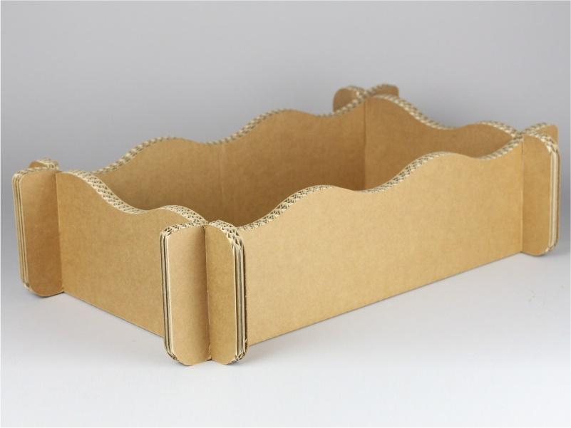 Cassetta per confezioni regalo in cartone lati ondulati modello B